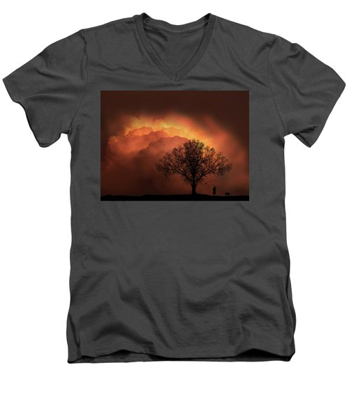 Men's V-Neck T-Shirt featuring the photograph 4491 by Peter Holme III