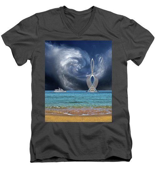 Men's V-Neck T-Shirt featuring the photograph 4492 by Peter Holme III
