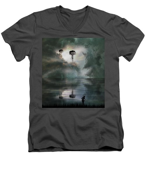 Men's V-Neck T-Shirt featuring the photograph 4494 by Peter Holme III