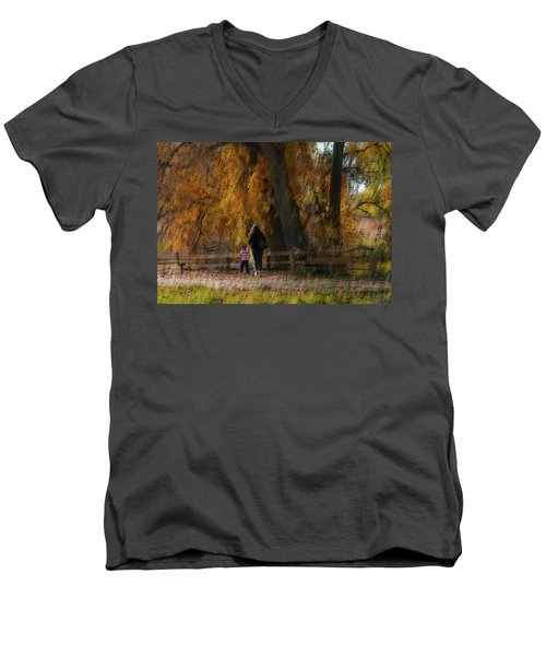 Men's V-Neck T-Shirt featuring the photograph 4496 by Peter Holme III