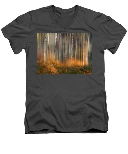 Men's V-Neck T-Shirt featuring the photograph 4497 by Peter Holme III