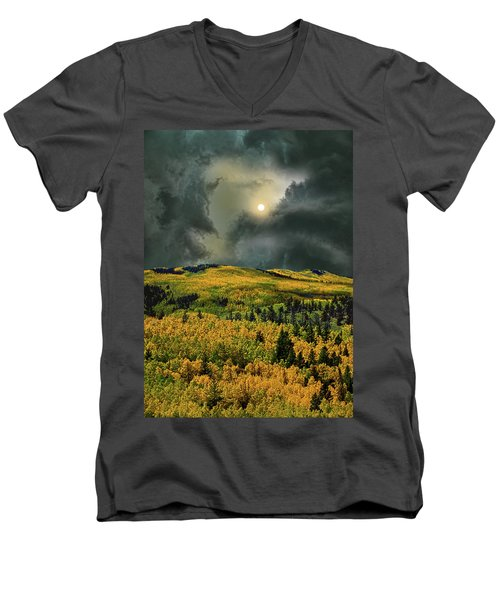 Men's V-Neck T-Shirt featuring the photograph 4498 by Peter Holme III