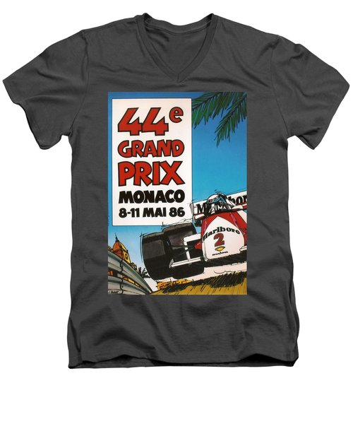 44th Monaco Grand Prix 1986 Men's V-Neck T-Shirt