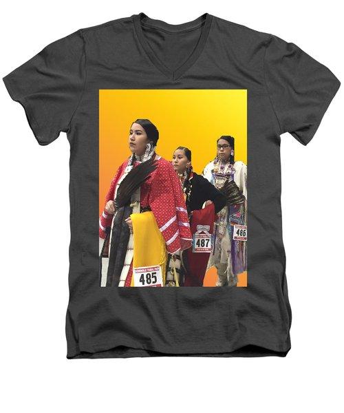 485 486 487 Men's V-Neck T-Shirt by Audrey Robillard