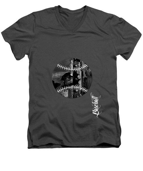 Baseball Collection Men's V-Neck T-Shirt by Marvin Blaine