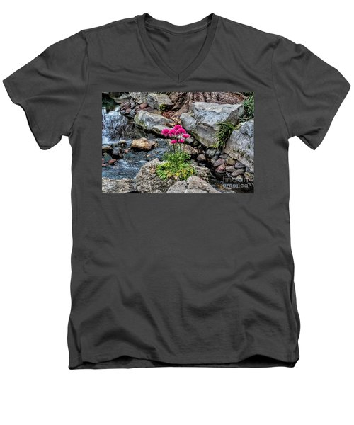 Men's V-Neck T-Shirt featuring the photograph Dallas Arboretum by Diana Mary Sharpton