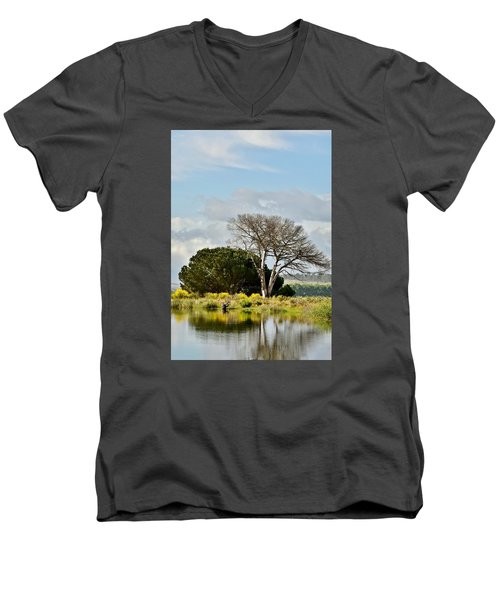 Men's V-Neck T-Shirt featuring the photograph dead Tree by Werner Lehmann
