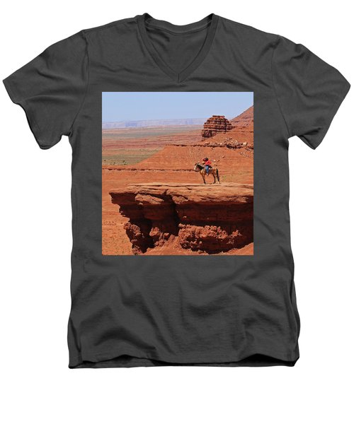 Grand Canyon Men's V-Neck T-Shirt by Ronald Olivier