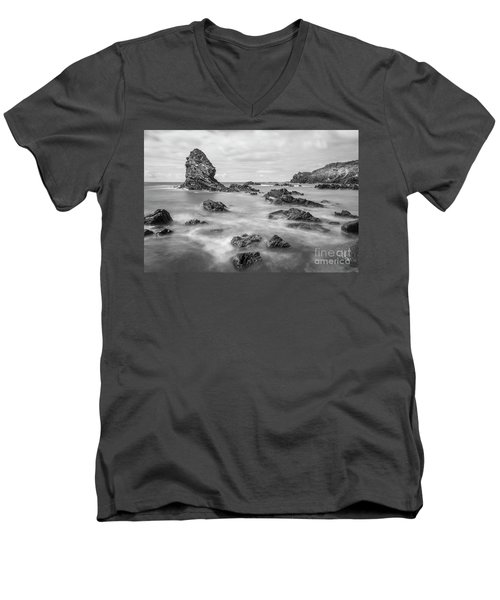 Gwenfaens Pillar Men's V-Neck T-Shirt by Ian Mitchell