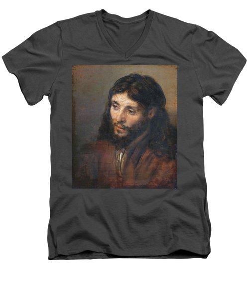 Head Of Christ Men's V-Neck T-Shirt