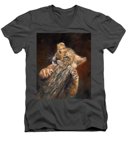 Lion Cub Men's V-Neck T-Shirt