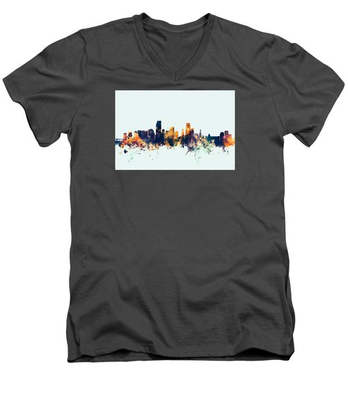 Miami Florida Skyline Men's V-Neck T-Shirt