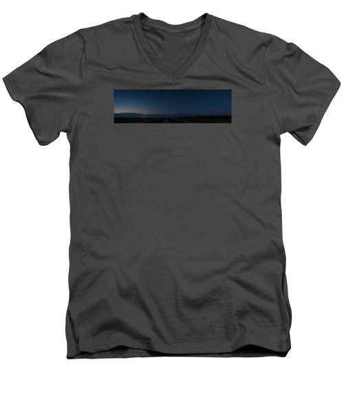 5 Planet Alignment Panorama Men's V-Neck T-Shirt
