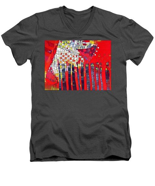 Red Series 4 Men's V-Neck T-Shirt