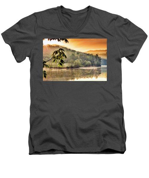 Stonewall Resort Sunrise Men's V-Neck T-Shirt by Thomas R Fletcher