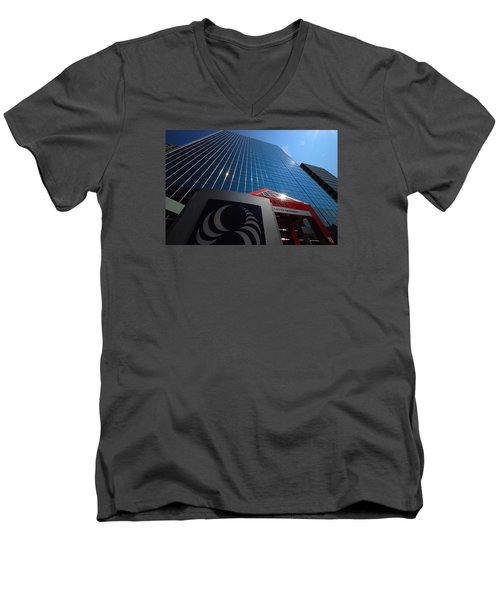 500 Rue Sherbrooke Ouest Men's V-Neck T-Shirt