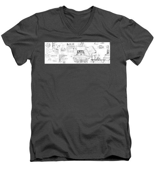 5.35.japan-8-detail-a Men's V-Neck T-Shirt