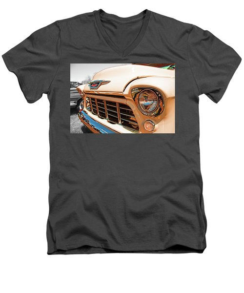 '55 Chevy 3100 Men's V-Neck T-Shirt