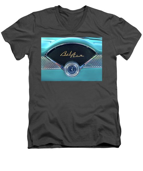 55 Chevy Dash Men's V-Neck T-Shirt