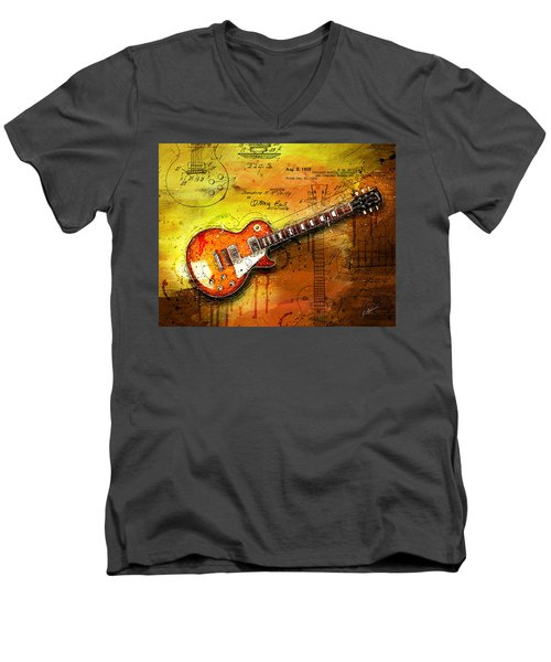 55 Sunburst Men's V-Neck T-Shirt by Gary Bodnar