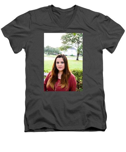 5561-2 Men's V-Neck T-Shirt by Teresa Blanton