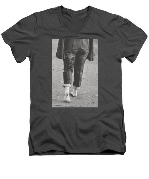 Men's V-Neck T-Shirt featuring the photograph 5572 by Teresa Blanton