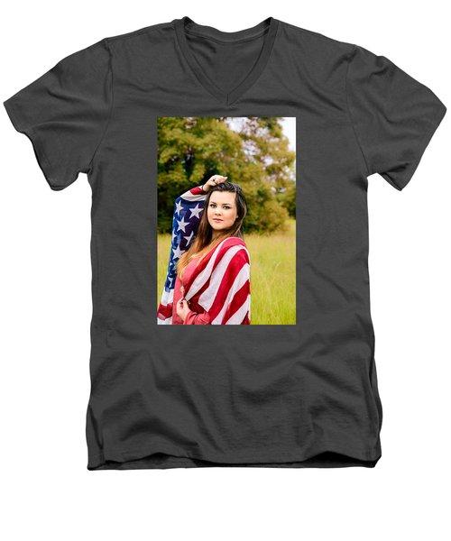 5633 Men's V-Neck T-Shirt by Teresa Blanton