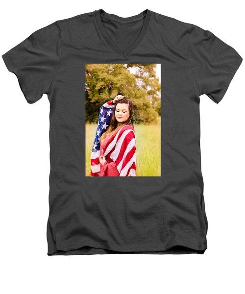 5635-2 Men's V-Neck T-Shirt by Teresa Blanton