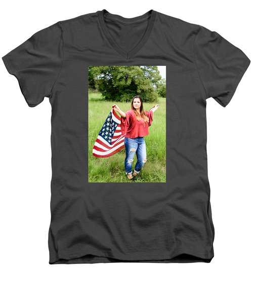 Men's V-Neck T-Shirt featuring the photograph 5649-2 by Teresa Blanton