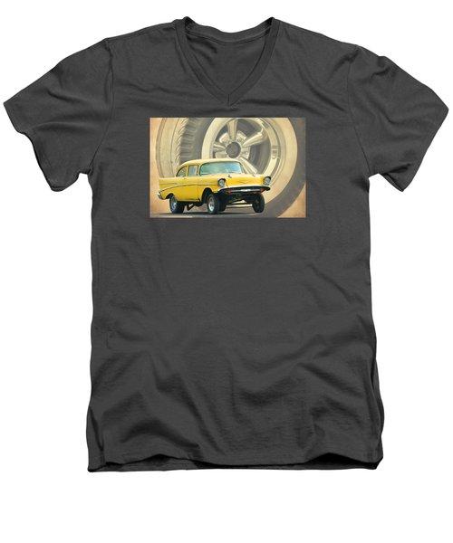 57 Gasser Men's V-Neck T-Shirt by Steve McKinzie