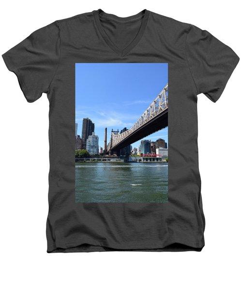 59th Street Bridge No. 13 Men's V-Neck T-Shirt by Sandy Taylor