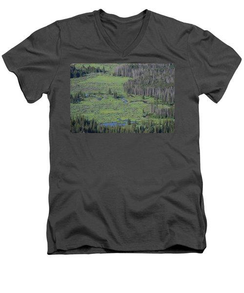 Scenery Rocky Mountain Np Co Men's V-Neck T-Shirt