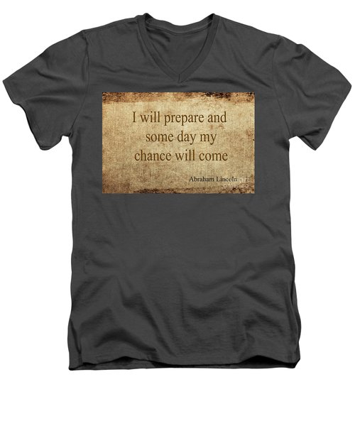 Abraham Lincoln Men's V-Neck T-Shirt