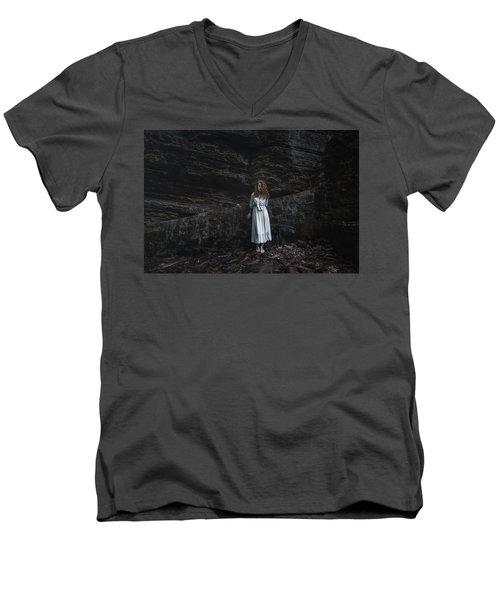 Men's V-Neck T-Shirt featuring the photograph Aretusa by Traven Milovich