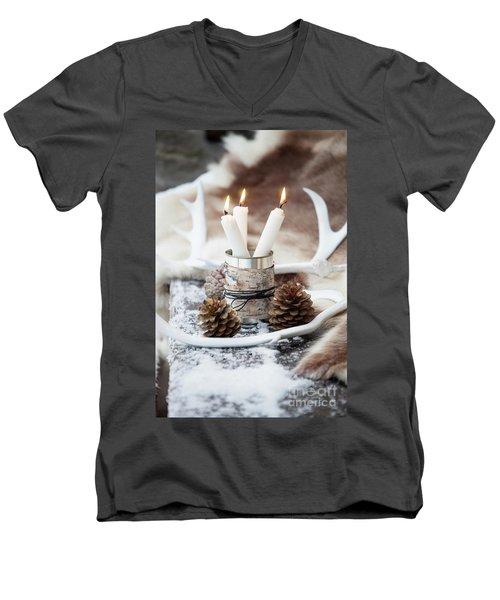 Candles Men's V-Neck T-Shirt