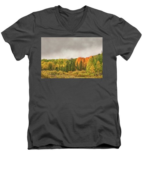 Colorado Fall Foliage 1 Men's V-Neck T-Shirt