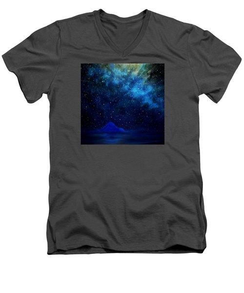 Cosmic Light Series Men's V-Neck T-Shirt by Len Sodenkamp