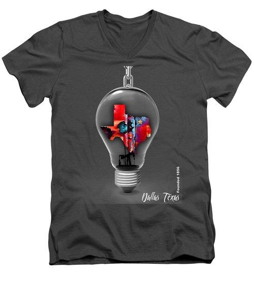 Dallas Texas Map Collection Men's V-Neck T-Shirt