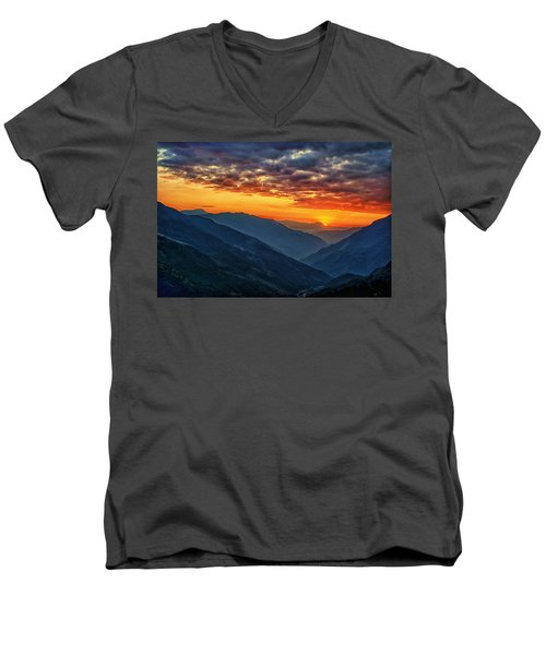 Kalinchok Kathmandu Valley Nepal Men's V-Neck T-Shirt