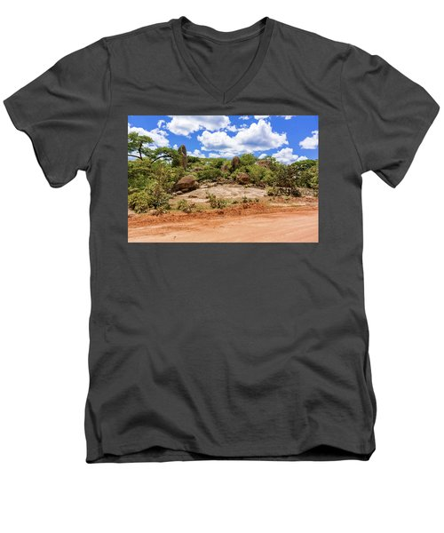Landscape In Tanzania Men's V-Neck T-Shirt by Marek Poplawski