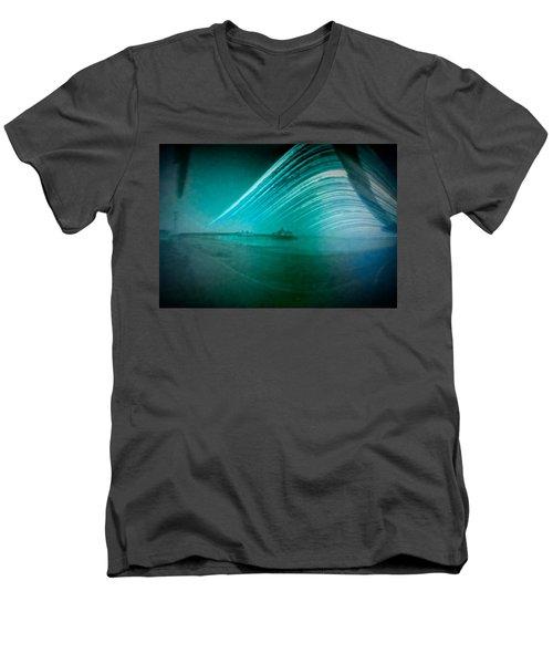 6 Month Exposure Of Eastbourne Pier Men's V-Neck T-Shirt