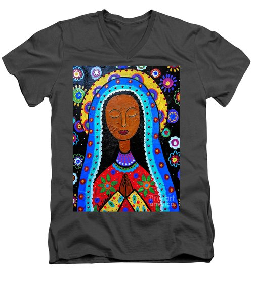 Our Lady Of Guadalupe Men's V-Neck T-Shirt
