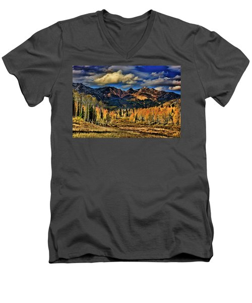Rocky Mountain Fall Men's V-Neck T-Shirt