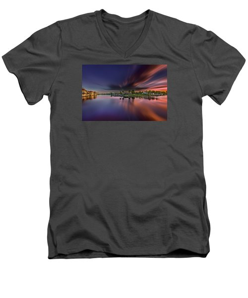 Sunrise At Naples, Florida Men's V-Neck T-Shirt