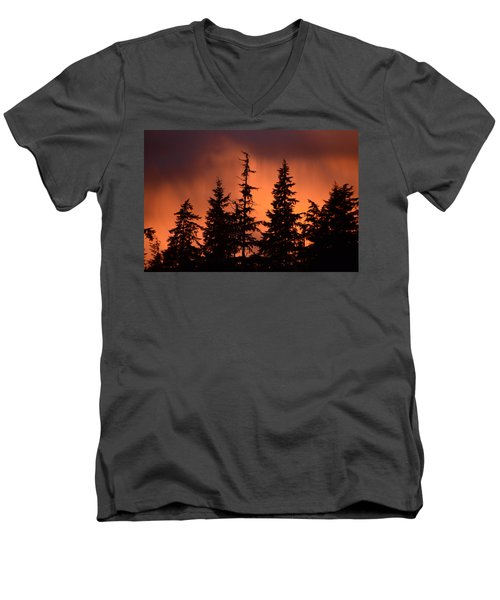 Sunset Men's V-Neck T-Shirt