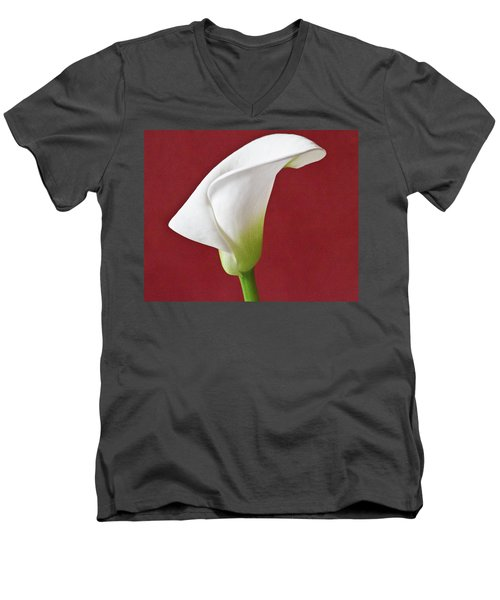 White Calla Men's V-Neck T-Shirt