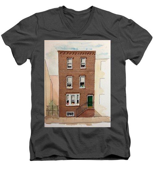 615 South Delhi St. Men's V-Neck T-Shirt by William Renzulli