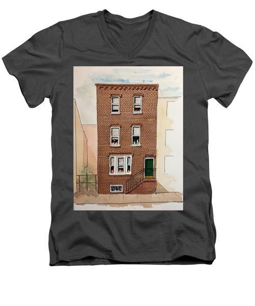 615 South Delhi St. Men's V-Neck T-Shirt