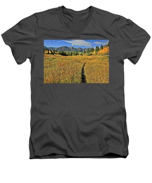 Rocky Mountain Fall Men's V-Neck T-Shirt