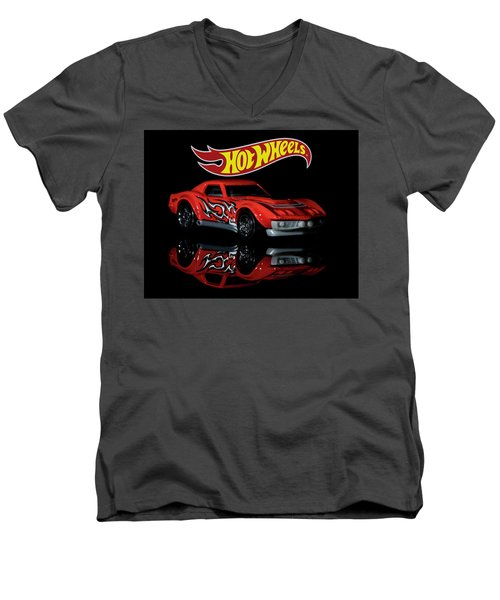 '69 Chevy Corvette-2 Men's V-Neck T-Shirt